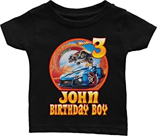 Custom Hot Wheels Birthday Shirt
