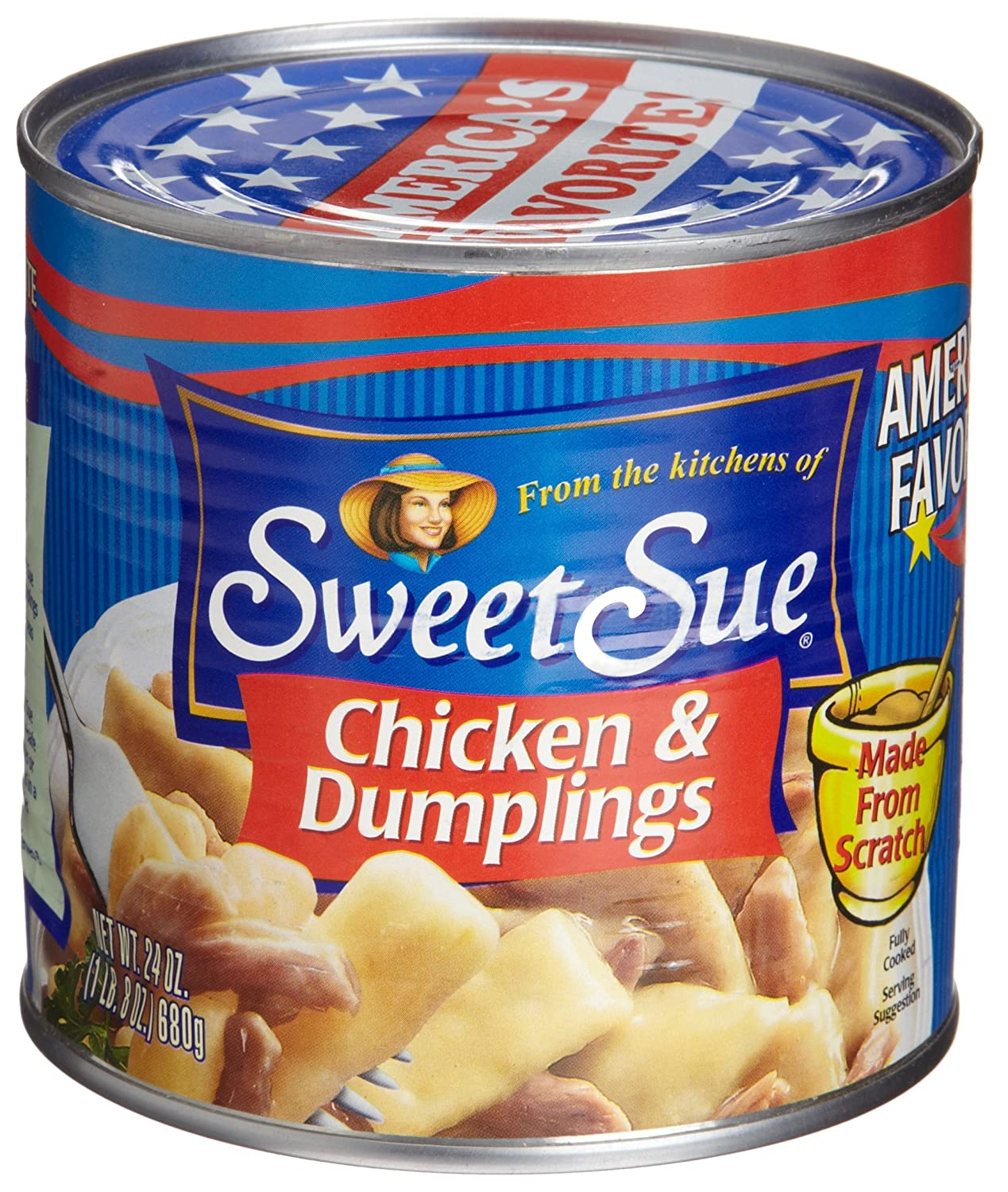SWEET SUE Chunk White Chicken in Water, High Protein Food, Keto Food and Snacks, Gluten Free Food, High Protein Snacks, Bulk Canned Food, 5 Ounce Cans (Pack of 24)