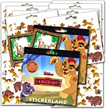 Disney Lion Guard Stickers Party Favors - Bundle of 2 Sticker Packs - 12 Sheets 240+ Stickers plus 2 Specialty Stickers!