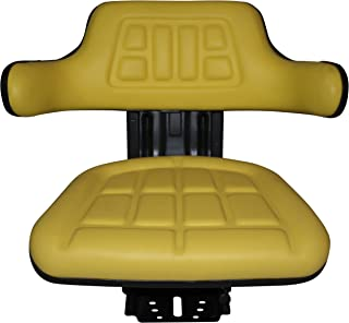 TRAC SEATS Yellow Suspension Tractor SEAT FITS John Deere 1020,1530,2020,2030,2040,2155, 2280, 5210 Brand(Same Day Shipping - GET IT Fast!! View Our Transit MAP)