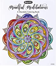 Crayola Mandala Coloring Book, Mindful Meditations, 40 Premium Coloring Pages, Gift, Multicolor
