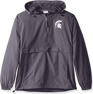 NCAA Mens NCAA Men's Half Zip Front Pocket Packable Jacket