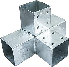 Connex HV4244 paalhoek dubbel, 90 x 90 mm, hout