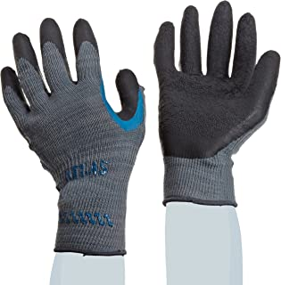 SHOWA Atlas 330 Palm Coating Natural Rubber Glove 10-Gauge Seamless Knitted Liner General Purpose Work X-Large (Pack of 12 Pairs)