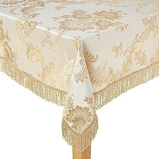"Violet Linen Oblong/Rectangle Tablecloth, Beige, 60"" x 140"""
