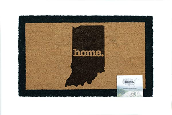 Home State Apparel Indiana Home Coir Door Mat