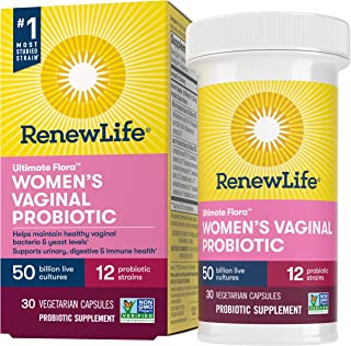 Renew Life Women's Probiotics 50 Billion Guaranteed, Probiotic Supplement, 12 Strains, Shelf Stable, Gluten Dairy & Soy Fr...