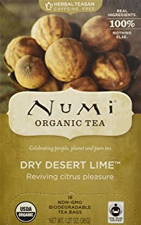 Numi Dry Desert Lime Herbal Teasan 18 Tea Bags Numi Teas Teasans