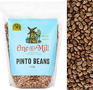 Sponsored Ad - One in a Mill Dried Pinto Beans 3lb Bulk Resealable Bag | Frijoles Pinto Dry 100% Natural | For Cooking, So...