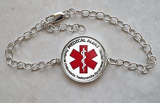 Medical Alert POTS Sterling Silver Bracelet