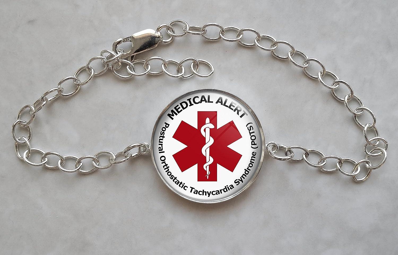 Medical Alert POTS Minneapolis discount Mall Silver Bracelet Sterling