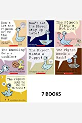 Pigeon Series 7 Book Set : Don't Let the Pigeon Drive the Bus / Stay up Late. Pigeon Finds a Hot Dog ....and 4 More Titles Paperback