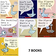 Pigeon Series 7 Book Set : Don't Let the Pigeon Drive the Bus / Stay up Late. Pigeon Finds a Hot Dog ....and 4 More Titles