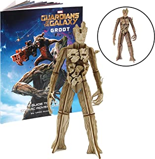 Marvel Guardians of The Galaxy Groot Book and 3D Wood Model Kit - Build, Paint and Collect Your Own Wooden Model - Great for Kids and Adults,12+ - 6