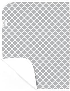 Kushies Baby Deluxe Change Pad, Grey Lattice