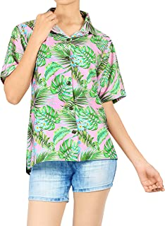 Coral Bay Energy Womens Tropical Leaf Stripe Print Skort