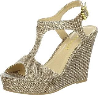 Rampage Women's Candelas Platform Ankle Strap Dress Wedge Sandal