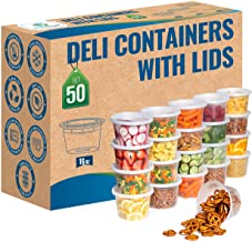 Safeware 16oz [50 Sets] Deli Plastic Food Storage Containers with Airtight Lids - Great for Slime, Soup, Portion Control a...