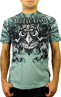 Affliction Fedor Emelianenko Emperor Short Sleeve Graphic Fashion MMA UFC Signature series T-shirt Top For Men