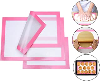 Silicone Baking Mats, 3-Piece Set Non Stick Baking Mats, Half and Quarter Sheet Liner Set , Food Safe Tray Pan and Cookie Sheet Liners