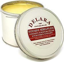 DELARA Intensieve meubelverzorging, zeer hoogwaardige meubelwas met bijenwas en kokosolie, 500 ml, kleurloos - Made in Ger...
