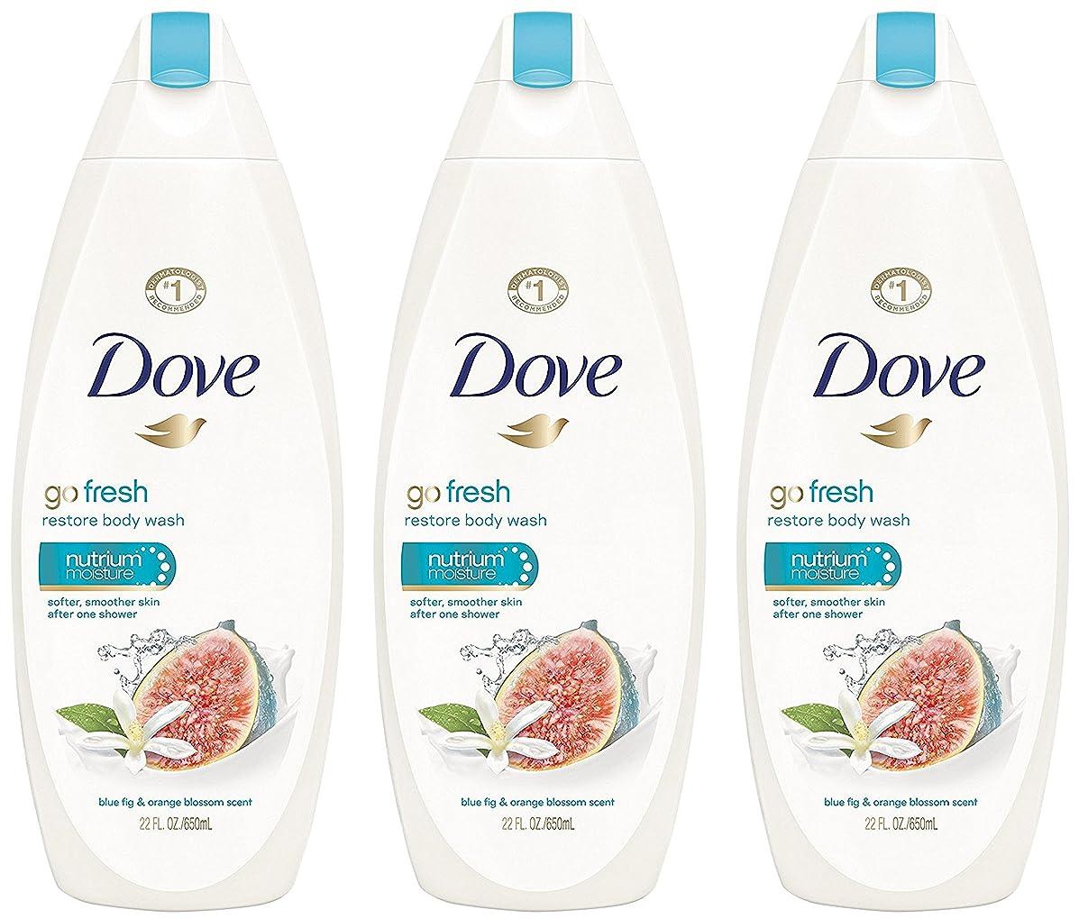 性格説明一部Dove ボディウォッシュ - 復元 - - 当期純重量 - ブルー図&オレンジブロッサム香りでフレッシュます。ボトルパー22液量オンス(650 ml)を - 3本のボトルのパック