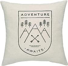 Danica Studio Throw Pillow Cushion, 17x 17 Inches, Adventure Awaits