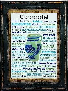 Guuuude! Bembel Druck Poster A4 Geschenk Apfelwein Hessen Fr