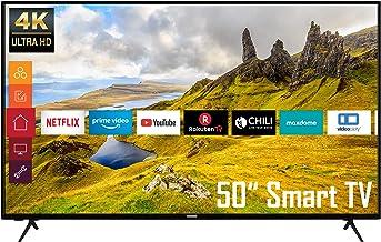 Telefunken XU50K521 50 Zoll Fernseher (4K Ultra HD, HDR, Triple-Tuner, Smart TV, Works..