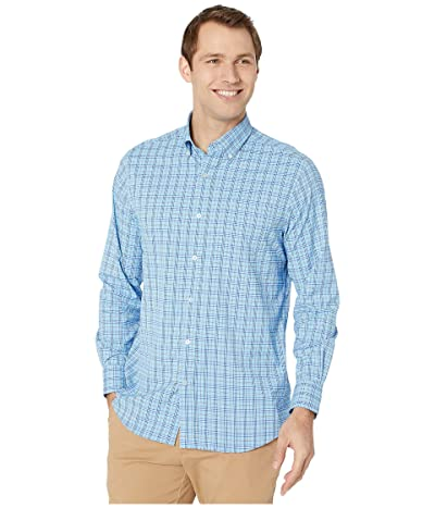 Southern Tide Marina Plaid Intercoastal Performance Sport Shirt (Shoreline Blue) Men