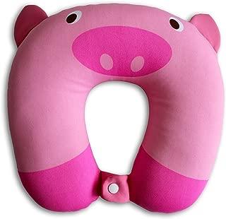 NIDO NEST Kids Travel Neck Car Pillow - for Child Toddler Airplane Cars, Pig