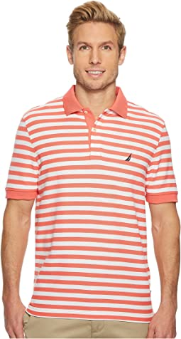 Nautica - Short Sleeve Stripe Classic Deck Polo