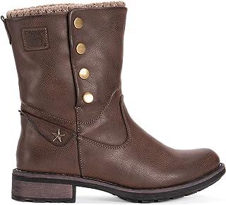حذاء برقبة طويلة للنساء من Muk Luks حذاء بكعب ذي عجلات