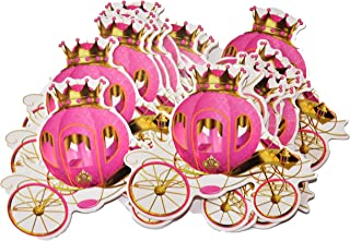 Princess Carriage Cut-Outs, Princess Birthday Baby Shower Party Decor (Hot Pink)