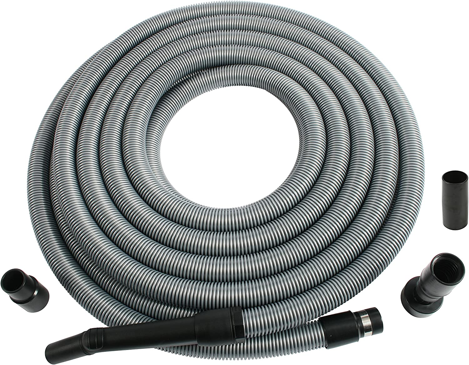 Cen-Tec Systems 95358 30 Foot Extension Hose for Shop and Garage Vacuums Silver Ft