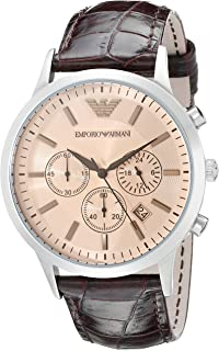 Emporio Armani Men's AR2433 Dress Brown Leather Watch