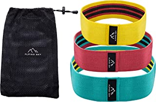 Alpine Sky Newest 2019 Hip Booty Bands - Premium Woven Fabric Hip, Thigh Glute Workouts - Non-Slip Resistance Grippy Inter...