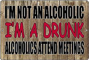 Rogue River Tactical Funny Sarcastic Drinking Metal Tin Sign Wall Decor Man Cave Bar Beer Alcoholic Drunk