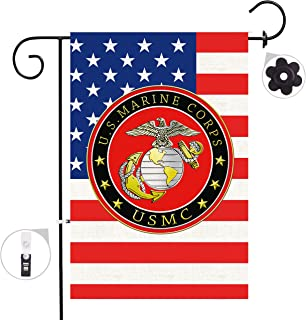 Bonsai Tree Marine Corps USMC Seasonal Burlap Garden Flag Banner Decorative Outdoor Double Sided Yard Flag 12 x 18 Prime
