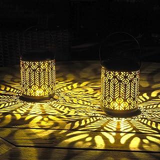 Gadgy Latarnia solarna do użytku na zewnątrz, wisząca   2 sztuki z motywem pawia   latarnia solarna do użytku na zewnątrz...