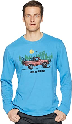 Fishing Truck Long Sleeve Crusher Tee