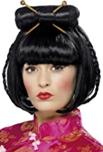 Smiffy's Women's Oriental Lady Wig Mid Length with Chopsticks