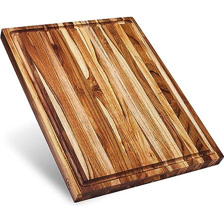 Teakhaus Edge Grain Carving Board W Hand Grip Juice Canal Rectangle 24 X 18 X 1 5 Proteak Edge Grain Teak Cutting Board Kitchen Dining