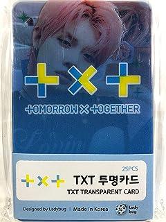 TXT TOMORROW X TOGETHER トゥモローバイトゥゲザー グッズ / 透明 フォトカード 25枚セット - TRANSPARENT CARD 25pcs [TradePlace K-POP 韓国製]