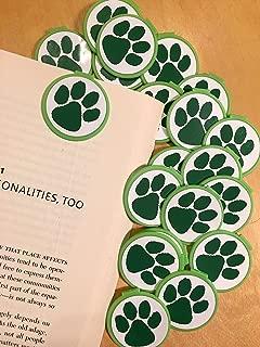 GREEN Animal Paw Print School Mascot BOOKMARKS (Set of 36)