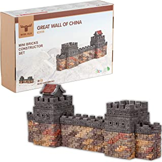 Wise Elk Great Wall of China Ceramic Building Set with 1320 pcs. & Educational STEM Toy for Kids from 5 Years, Great Gift for Boys and Girls. Eco-Friendly Rebuildable Toy for DIY Lovers.