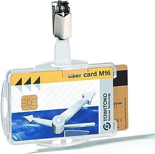 Durable 821819 Boite de 25 Porte-Cartes de sécurité ouvert avec Clip pour 2 Cartes Transparent