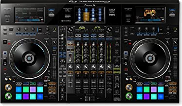 Pioneer DJ DDJ-RZX 4 Channel Professional DJ Controller and Audio Interface for Rekordbox JD & Rekordbox Video with Rekordbox Video Software BUNDLE with 12 x Senor Microphone Cable and Zorro Cloth