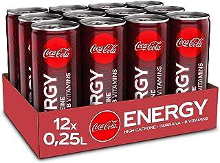 Coca-Cola Energy, Energydrink mit Koffein und Guarana mit dem unverwechselbaren Coke Geschmack mit Zucker, EINWEG Dose 12 x 250 ml