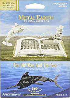 Metal Earth Model The Old Man and The Sea Book Sculpture (Fascinations mms117)